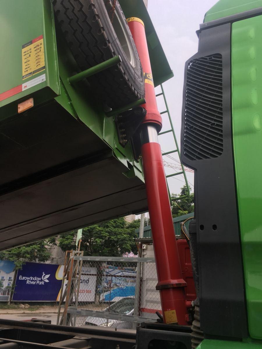 hệ thống ben hyva xe tải ben 4 chân thùng đúc